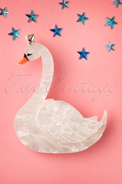 Deer Arrow Swan Princess Plastic Brooche 340 50 19302 20160629 0004W