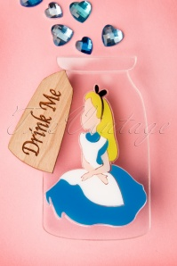 TopVintage Exclusive ~ 50s Drink Me Alice Brooch
