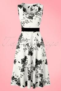 Vintage Chic Veronica White Dress Flower Print 102 59 19388 20160629 0011W