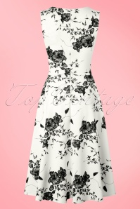 Vintage Chic Veronica White Dress Flower Print 102 59 19388 20160629 0010W
