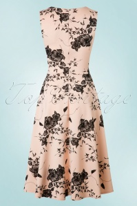Vintage Chic Veronica Nude Dress Flower Print 102 29 19386 20160629 0010W