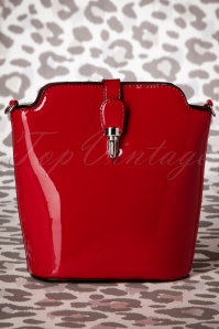 60s Miss Trixie Lacquer Bag in Red