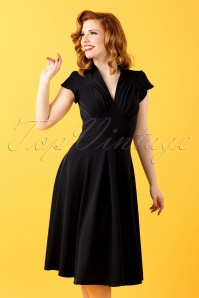 50s Claudette Swing Dress in Black