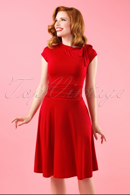 Retrolicious Bridget Bombshell Red Dress 10516 20140501 015W