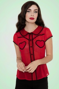 Vixen Red Hearts Polkadot Top  112 27 17976 20160513 1