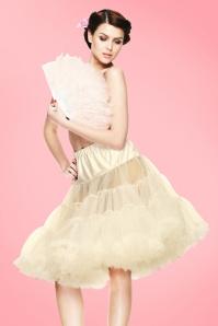 50s retro Petticoat chiffon Ivory