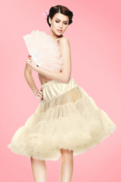 Bunny 50s retro Petticoat chiffon ivory 10986