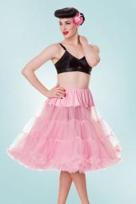 Retro Chiffon Petticoat Années 50 en Rose Bubblegum
