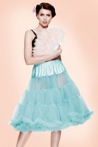 50s retro Petticoat chiffon Turquoise