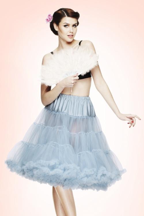 Bunny 50s retro Petticoat chiffon Sky Blue 10993 23