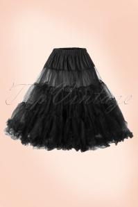 WBunny 50s retro Petticoat chiffon black 10981