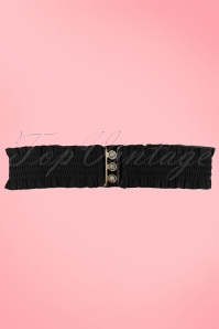 Sarah Retro elastic waist belt black