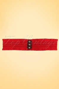 Sarah Retro elastic waist belt red
