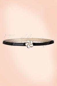 50s Daisy Pearl Belt in Black