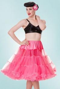 50s retro Petticoat chiffon Neon Pink