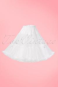 Sammy 50s Retro White Chiffon Deluxe Petticoat 11077 1