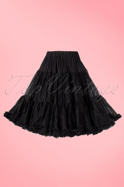 Sammy   50s retro Petticoat chiffon luxe zwart51 2075 20120726  008W