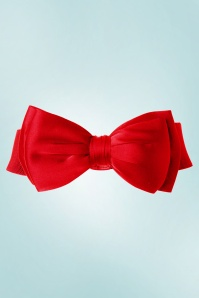 Collectif Clothing 50s Bella Bow Belt in Deep Red