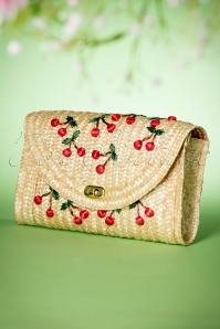 Collectif Clothing Cherry Straw Bag 216 52 19003 07042016 018W