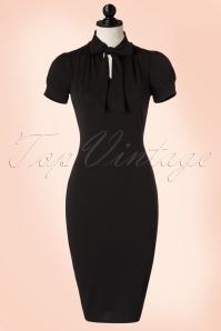 Vintage Chic Black Luxury Bodycon Bow Dress 100 10 19253 20160630 0005pop