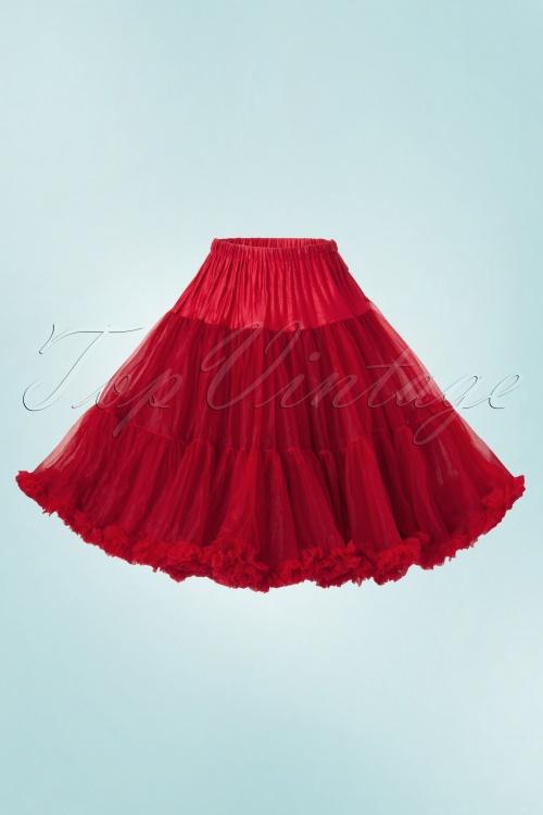 Sammy 50s Retro Petticoat Chiffon Luxe Red W