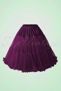 50s Lola Lifeforms Petticoat in Aubergine