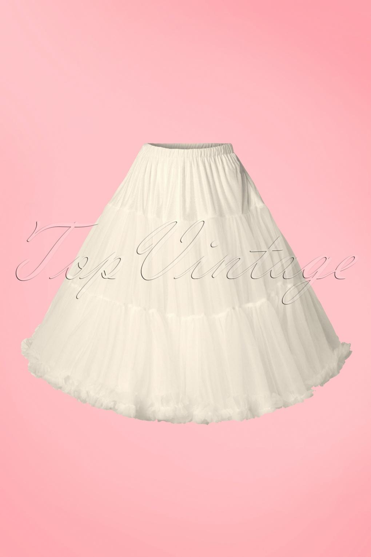 1950s Petticoat History 50s Lola Lifeforms Petticoat in Ivory £47.83 AT vintagedancer.com