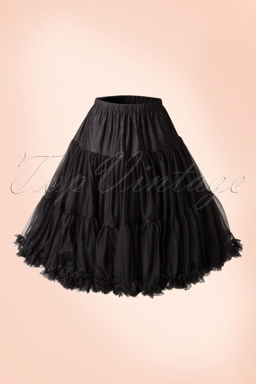 Crinoline Skirt | Crinoline Slips | Crinoline Petticoat 50s Lola Lifeforms Petticoat in Black £43.70 AT vintagedancer.com