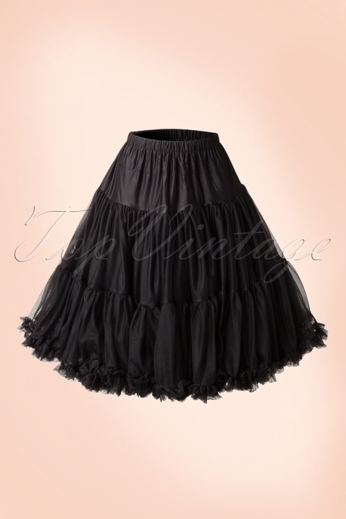 Banned 50s Lola Lifeforms Petticoat in Black 14714 20150303 0005W