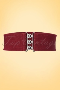 50s Retro Stretch Belt in Burgundy