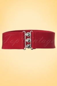 50s Retro Stretch Belt in Red
