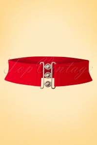 50s Lauren Vintage Stretch Belt in Red