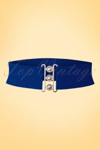 Banned Retro 50s Lauren Vintage Stretch Belt in Royal Blue