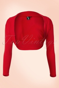 Lady Folded Bolero in Vintage Red