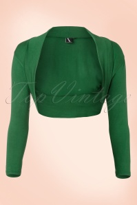 Lady Folded Bolero in Green
