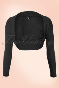 Lady Folded Bolero in Black