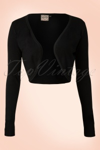 Vintage Flickers Bolero in Black
