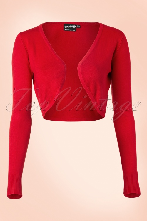 Banned  Vintage Bolero in Red 12731 20140305 0007 FrontW