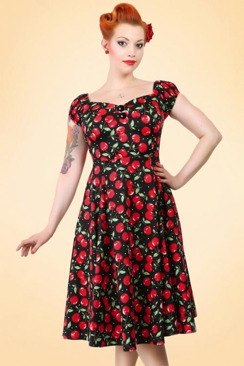 Dolores Cherry Polka Dot Doll DressWB