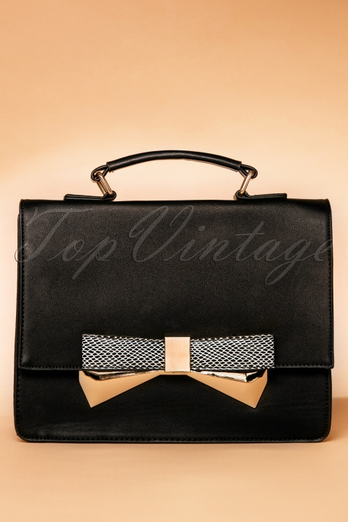 La Parisienne Black Bow Handbag 212 10 19489 07112016 012W