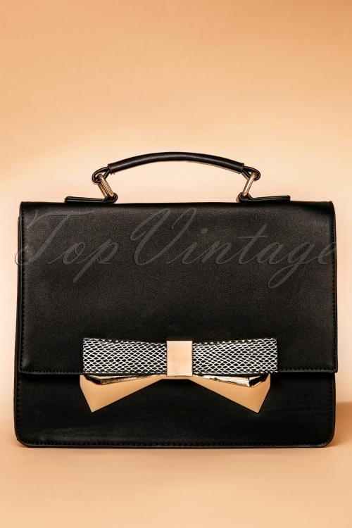 La Parisienne Black Bow Handbag 212 10 19489 07112016 012W