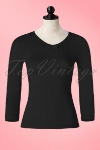 50s Louisa Bow Top in Black