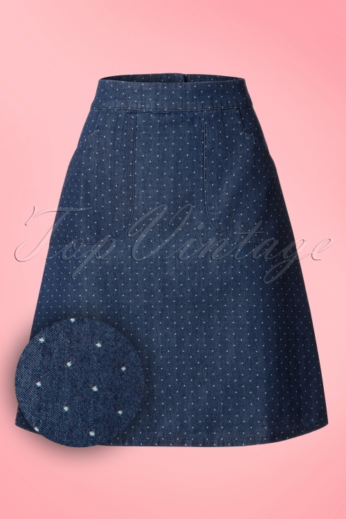 Who's That Girl Famous Fish Flounder Denim Skirt 123 39 18538 20160718 0001W1