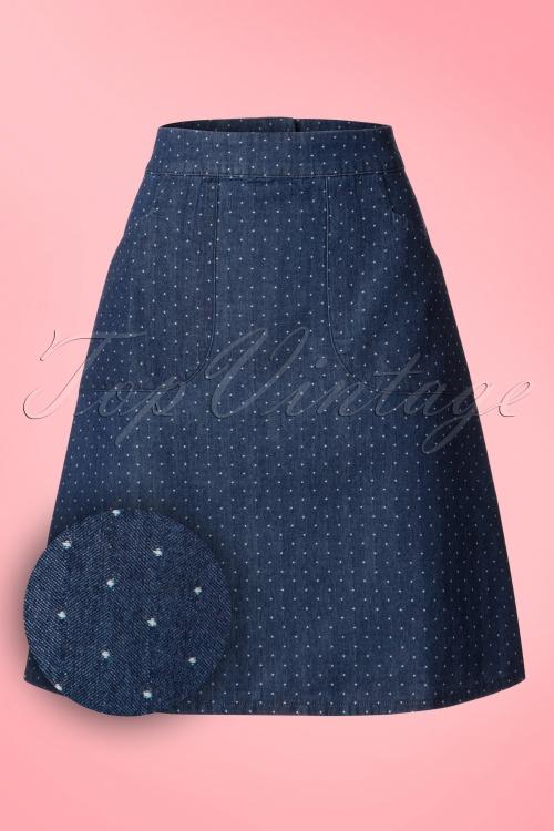 Who's That Girl Famous Fish Flounder Denim Skirt 123 39 18538 20160718 0001W1