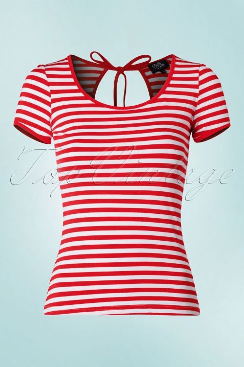 Dolly and Dotty Gina Red Striped Shirt  19524 20160330 004W