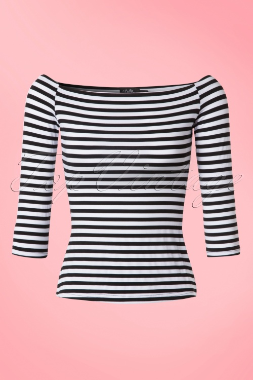 Dolly & Dotty Gloria Bardot Striped Top 110 14 19525 20160726 0003W