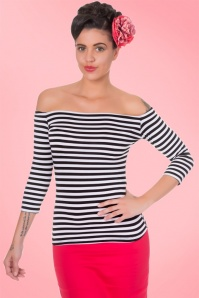 Dolly & Dotty Gloria Bardot Striped Top 110 14 19525 20160726 2