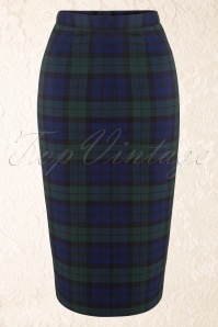 Bunny Jodie Dublin Tart Check Blue Green Pencil Skirt 120 39 16740 20150831 0012W