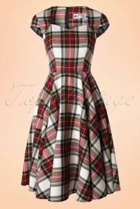 50s Aberdeen Swing Dress in Stewart Tartan