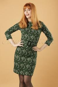 70s Maes Giganty Dress in Grass Green